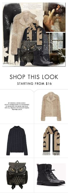 """""""Snow Ready"""" by elena-777s ❤ liked on Polyvore featuring Burberry, Theory, Mansur Gavriel, A by Amara, Trilogy, snowday, 2017, snowready, fallwinter2017 and autumnwinter2017"""