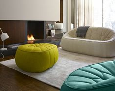 Sofas - Ottoman by Noé Duchaufour-Lawrance - Ligne Roset USA Furniture Upholstery, Chair And Ottoman, Cushions On Sofa, Upholstery Repair, Upholstery Tacks, Upholstery Cushions, Upholstery Cleaning, Sofa Bed, Sofa Design