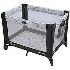 Graco Pack 'n Play Playard with Automatic Folding Feet, Carnival Grey
