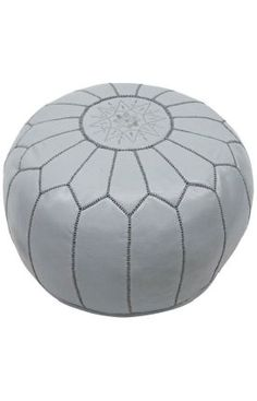 Take a look at this Dark Gray Moroccan Ottoman by nuLOOM on today! Leather Pouf, Leather Ottoman, Pouf Ottoman, Grey Leather, Moroccan Pouf, Rugs Usa, Modern Bohemian, Home Decor Inspiration, Contemporary Furniture