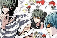 Tags: Death Note, Matt, Mail Jeevas, Matt with green and blue and red hair