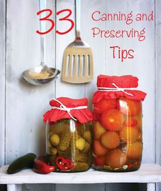 Beginners and pros alike will find something new and exciting in this round-up of home-canning ideas. These 33 canning and preserving tips from Mother Earth News magazine will help you stock your pantry so you can eat healthy food year-round.