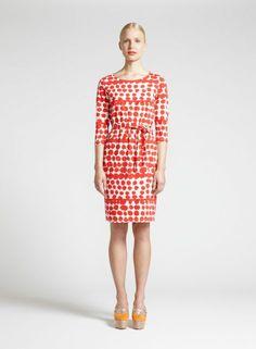 Tepeu-mekko (kalkki, tomaatti) |Vaatteet, Naiset, Mekot ja hameet | Marimekko