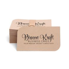 "Blank kraft cards. Can be used for rustic style business cards, note cards, place cards, etc. Available in 10 colors. Size: 3.5"" x 2"" (standard business card size) Paper: 80lb Medium Weight Cardstock"