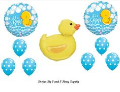 IT'S A BOY RUBBER DUCKY BABY SHOWER Balloons Decorations Supplies Duck Anagram http://www.amazon.com/dp/B00HL183AK/ref=cm_sw_r_pi_dp_em7yvb19T4FSK
