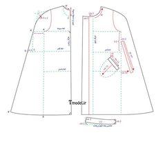 آموزش پانچو Kaftan Pattern, Pants Pattern, Tunic Sewing Patterns, Clothing Patterns, Dress Patterns, Factory Design Pattern, Dresses For Pregnant Women, Baby Frocks Designs, Sewing Lessons