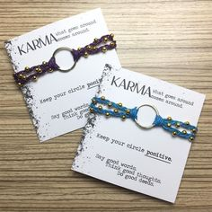 Karma bracelets in purple and blue with gold accents... . . . . . #soulsparks #1soulsparks #handmade #etsy #etsyshop #etsyjewelry #jewelry #bracelet #gifts #smallbusiness #handmadejewelry #crafts #etsyseller #handmadejewelry #karma #karmabracelets #purple #aquablue #gold #karma #bestseller