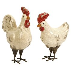 2-Piece Farmhouse Chicken Decor Set - Classic Farmhouse