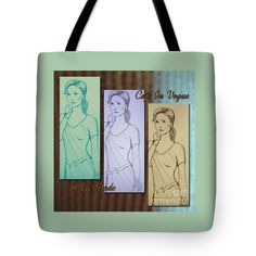 """Cafe In Vogue 3 Tote Bag 18"""" x 18"""""""