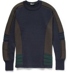 Kolor - Knitted-Wool Crew Neck Sweater |MR PORTER