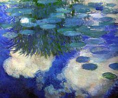 Water Lilies - 1914 by Claude Monet (Marmottan Monet Museum, Paris, France) - Impressionism