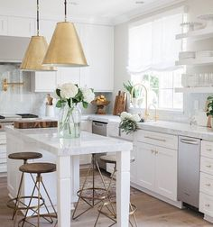"scoutandnimble on Instagram: ""A simply stunning white kitchen designed by @nicoledavisinteriors. : @mandyoliverphoto"""