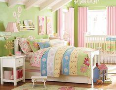 I love the Pottery Barn Kids Daisy Garden Shared Bedroom on potterybarnkids.com