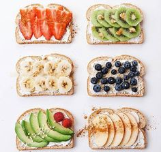 Here are 6 super creative breakfast toast recipe ideas to start the New Year right. So tasty and healthy! Can make with your favorite bread but recommend bread with whole grains. Perfect to eat with eggs during breakfast or eat alone as a snack. Breakfast Toast, Health Breakfast, Breakfast Ideas, Quick Healthy Breakfast, Healthy Breakfast Recipes For Weight Loss, Mexican Breakfast, Healthy Snacks, Healthy Recipes, Eat Healthy