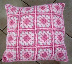 handmade crochet scatter cushion