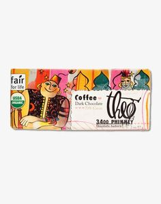 Theo COFFEE  70% DARK CHOCOLATE  $3.25    What's your chocolate fantasy? Does it start with a rich organic 70% cacao, dark chocolate? Is it blended with Seattle's beloved, locally-roasted, organic Caffé Vita coffee? If so, get ready to awaken your taste buds with a delicious new discovery.  Dad stocking stuffer
