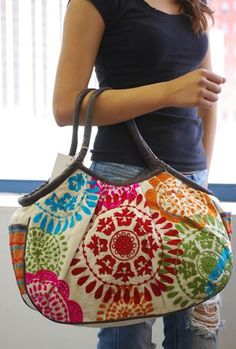 Embroidered Bag {multi} ~ Available at www.shophoitytoity.com