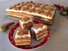 Mézeskalács szelet Sweet Recipes, Cake Recipes, Dessert Recipes, Amazing Food Decoration, Hungarian Recipes, Christmas Snacks, Sweet Cakes, Winter Food, No Bake Cake