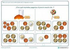 Ficha de encontrar el precio exacto de la piruleta para primaria