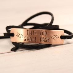 Copper and Suede Wrap Bracelet with your choice of text