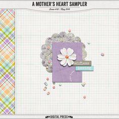 Quality DigiScrap Freebies: A Mother's Heart tiny kit freebie from The Digital Press