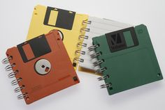 The only thing floppy disks are good for anymore. Diy Recycle, Reuse, Cassette Vhs, Floppy Disk, Origami Paper, Book Crafts, Fun Projects, Mini Albums, Repurposed