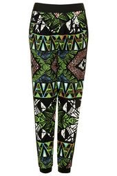 Aztec Side Stipe Jersey Tapered Trousers