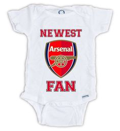 FIFA ARSENAL FAN Baby Onesie, Baby Bodysuit, Soccer fan, Arsenal Baby Onesie, Baby Shirt, Great Baby Shower Gift, Mother's Day, Father's Day by JujuApparel on Etsy https://www.etsy.com/listing/272510732/fifa-arsenal-fan-baby-onesie-baby