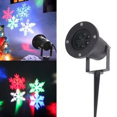 Hearty Multi-color Snowflake Outdoor Waterproof Light Party Rgb Led Effect Light Holiday Lights Halloween Lamp Christmas Lights