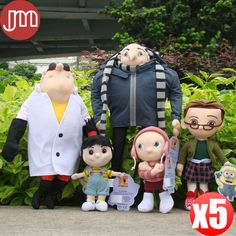 """Find More Movies & TV Information about New 5 PCS Minion Toy Agnes Edith Margo Villain Gru Papa Dr Nefario Doctor Brinquedos Plush Doll Cartoon Gift 6"""" 16"""" Kids Toys,High Quality gift rope,China gift sheep Suppliers, Cheap gifts for newborn boys from M&J Toys Global Trading Co.,Ltd on Aliexpress.com"""