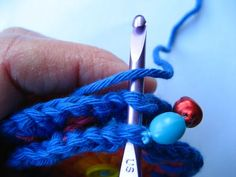 Crocheting the bauble pieces together
