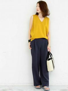 Work Fashion, Fashion Pants, Daily Fashion, Everyday Fashion, Japanese Outfits, Japanese Fashion, Simple Outfits, Casual Outfits, Look Street Style