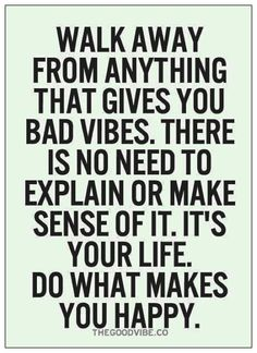 Very true... Do what makes you happy!