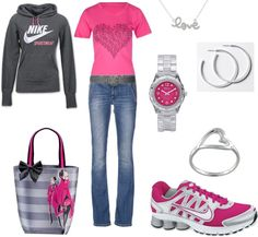 """Nike Love"" by jklmnodavis on Polyvore love the shoes"