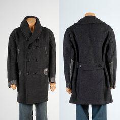 XL 1920s Coat 20s Coat Mens Horsehide Coat by StyleandSalvageMen