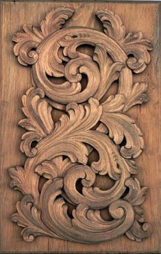 Meticulously hand carved sculpture in the Baroque tradition. Wood Carving Designs, Wood Carving Patterns, Baroque Sculpture, Ornament Drawing, Baroque Painting, Scroll Pattern, Art Carved, Custom Woodworking, Wall Sculptures