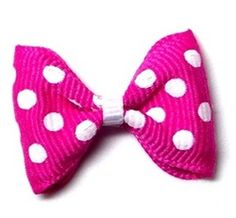 Hot Pink Dots Designer Dog Barrette