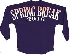 Spring break 2016 orange pom print J america shirt