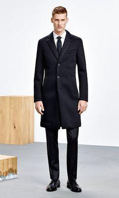Schwarzer Mantel für Herren von BOSS