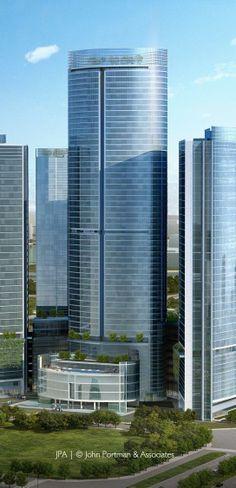 Yintai Center, Chengdu, China by John Portman & Associates Architects :: 52 floors, height 220m