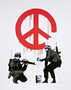 Peace Soldiers, Offset Lithograph, BANKSY