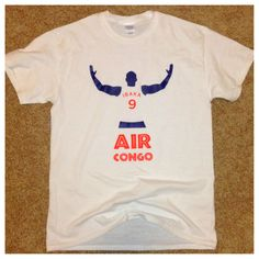 Round neck Air Congo tee by YOStees on Etsy, $15.99