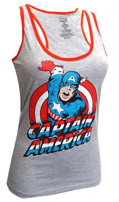 Marvel Comics Captain America Racer Back Tank Top Looking for a hero of your own? If you are a fan of Marvel's Captain America ...