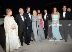 Queen Anne-Marie, King Constantine II of Greece, Crown Prince Pavlos of Greece, Crown Princess Marie-Chantal of Greece, Princess Alexia of Greece and Denmark, her husband Carlos Morales Quintana, Princess Theodora,Prince Philippos of Greece arrive for a private dinner to celebrate their Golden wedding anniversary at the Yacht Club of Greece in Piraeus, Greece, 18 September 2014