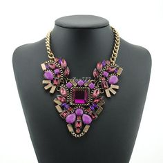 2016 Hot brand z necklace fashion party chunky luxury choker statement necklace Transparent flower Necklaces & Pendants jewelry