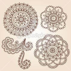 Paisley lace | Henna Tattoo Paisley Flower Doodles Vector | Stock Vector © blue67 ...