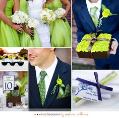 Wedding Color Inspiration: Blue and Green