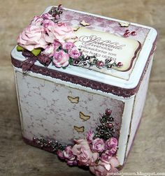 victorian altered boxes | Found on scrapping.no