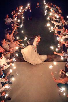 Beautiful wedding exit - let