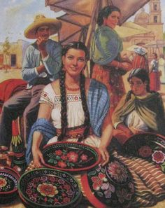 Mexican Calendar Girls the golden age of calendar art: A wonderful history and pictures book by the author Angela Villalba Mexican Artwork, Mexican Paintings, Mexican Folk Art, Girl Paintings, Mexican Style, Jesus Helguera, Hispanic Art, Latino Art, Mexican Heritage